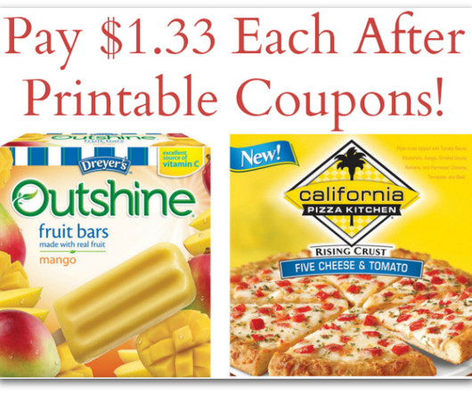 California Pizza Kitchen Pizzas Just $1.33 At Target