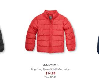 d3793c8d5 Childrens Place: 60% OFF Outerwear + Free Shipping! 11/2-16 Only