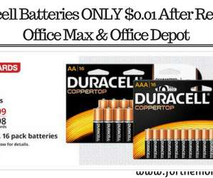 Duracell Batteries ONLY $0.01 At Office Depot Office Max (With Rewards)