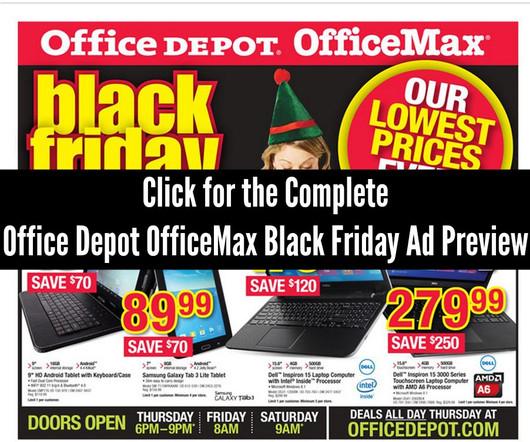 Office Depot OfficeMax Black Friday Ad 2014