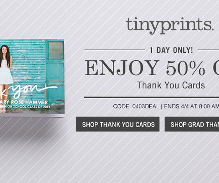 Thankful frugal focus tiny prints coupon code 50 off thank you cards fandeluxe Choice Image