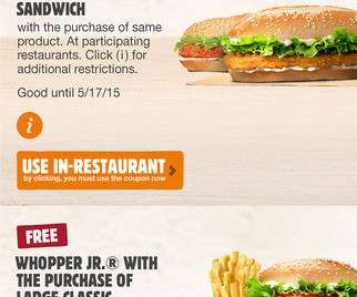 burger king luxembourg coupon