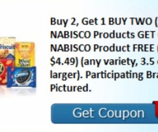 image relating to Nabisco Printable Coupons named Coupon codes, Nabisco and Printable - Frugal Attention