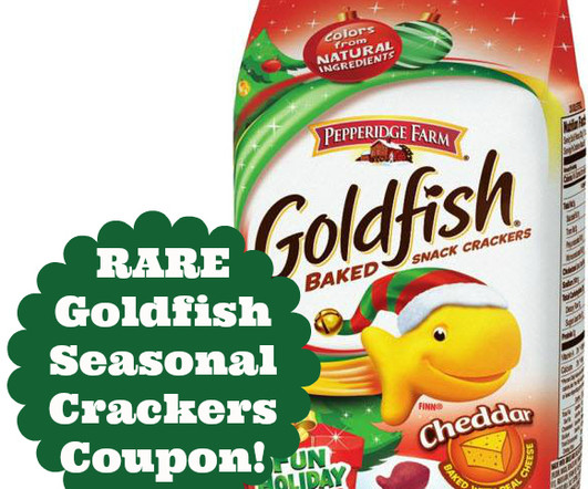 image relating to Goldfish Printable Coupons called Discount coupons and Goldfish - Frugal Awareness
